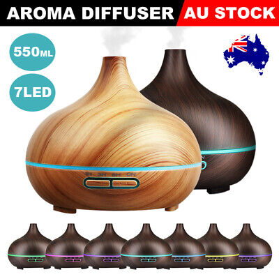 550ml Oil Diffuser Yoga Air Purifier LED Humidifier Essential Aroma Aromatherapy