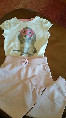 Girls pink joggers age 2-3 and star sequin tshirt Mothercare 1.5-2yrs