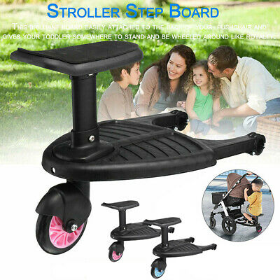 Universal Stroller Board Auxiliary Pedal Bumprider Sit Removable Pushchair Step