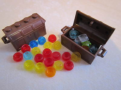 Lego 4 x Minifigure Pirate Brown Treasure Chest Container with hinged lid