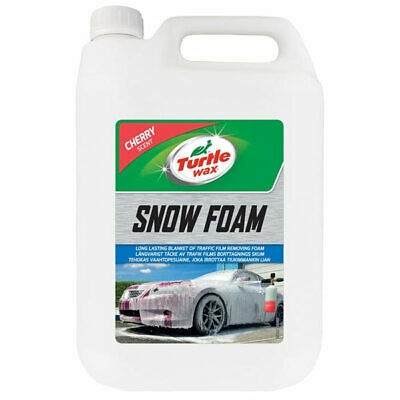 Turtle Wax 53111 5L Cherry Snow Foam Shampoo 5 Litre Car Care Cleaning