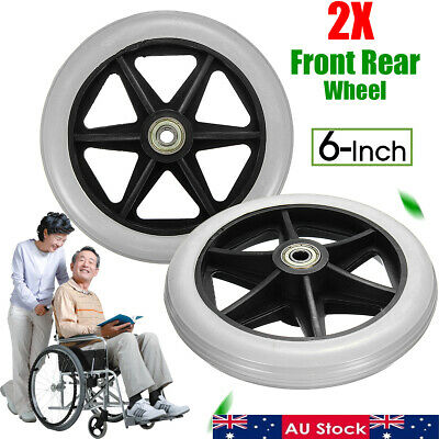 "AU 6"" Front Rear Wheel Replacement Parts for Cardinal Rollator Walker 150x35mm"