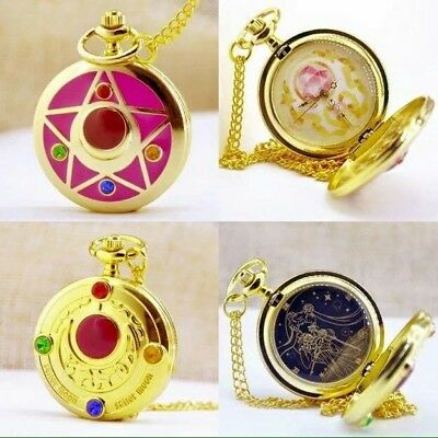 Sailor Moon Cosplay COPPIA Orologi da taschino Pocket watch