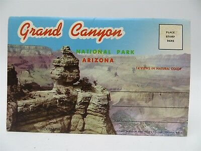 Vintage 1950's Souvenir Fold-Out Postcard Booklet - Grand Canyon, AZ