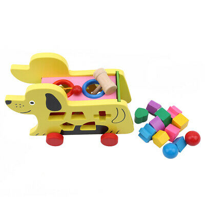 Puppy Shape Wooden Educational Toy Children's Early Education Puzzle Toy Supply