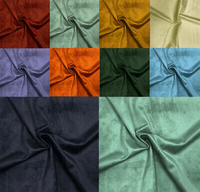 Faux Suede Plain Velvet Fabric Upholstery Curtain Blind Material 150cm Wide