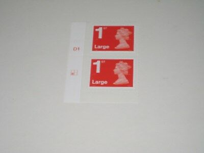 2012 MA12  Cylinder Pair of First Class Large 1st Stamps - Mint