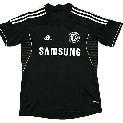 competitive price f2226 66ebd ADIDAS CHELSEA FOOTBALL Club Soccer Jersey Climacool Black White Size  Small. A4