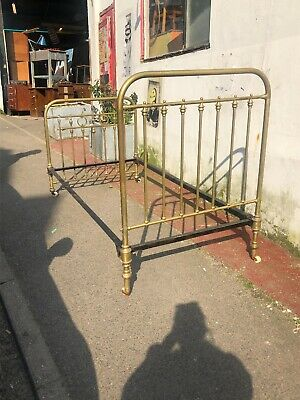 Vintage Retro Brass Single Bed Frame
