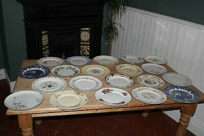 Bone China Dinner Plates Mismatched Vintage Wedding Party Tearoom