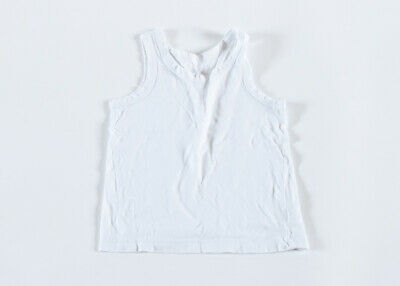 Boys/Girls Vests - White – 3-4 years (104cm) – 4 Pack