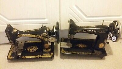 2 Singer sewing machines 99K and 28K, working removed from cabinets.
