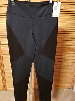 Ivanka Trump NEW Solid Black/BLUE Womens Pull On Mesh Yoga Pants $89.50