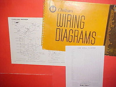 1962 1963 1964 1965 Ford Fairlane 500 Mercury Meteor Custom S-33 Wiring Diagrams