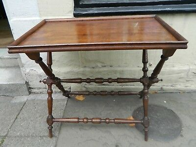 Antique Original Victorian Butler's Folding Table