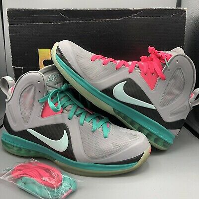 finest selection b2ae9 d2bb6 Nike Lebron 9 P.S. Elite SOUTH BEACH MIAMI VICE Size 12 516958 001 IX Nights