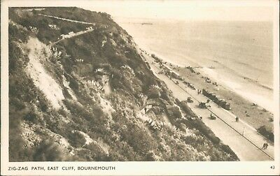 Bournemouth; Zig zag east cliff; wade's sunny south; 1948