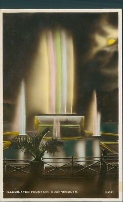 Bournemouth; Illuminated fountain; real photo excel series