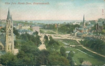 Bournemouth; view from monte dore 1908