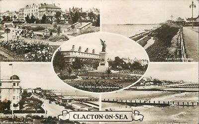 Clacton on sea; 5 views; 1936; real photo; Cook & Eaves