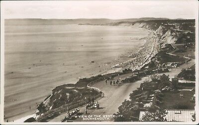 Bournemouth; a view of the west cliff; real photo