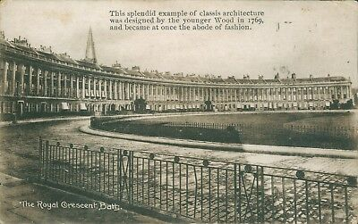 Bath; The royal crescent; Wilkinson and co 1920