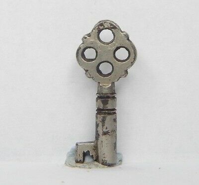 Antique Victorian Cabinet key 1.25 inch  caddy  box Gothic v10