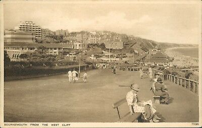 Bournemouth; From the west cliff; 1937; Photchrom