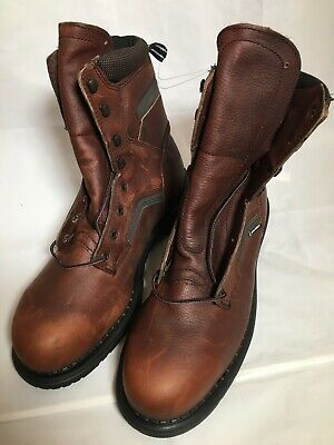 18e26551bca RED WING USA Steel Toe Brown Leather Engineer Packer Work Chore ...