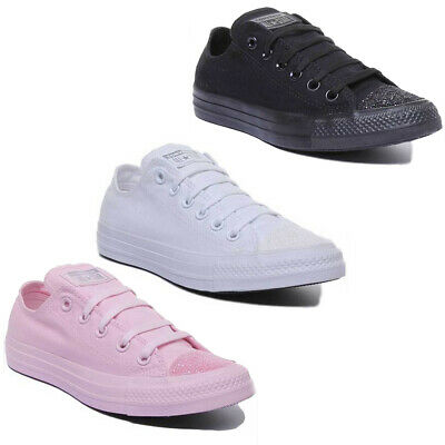 Converse CT All Star Glitter Toe Low Women Canvas Trainers UK Size 3 - 8