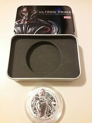 Marvel Avengers 'Ultron Prime' Collectors Coin 1oz Silver Plated With Tin Gift