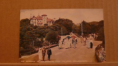 Postcard Unposted Dorset, Bournemouth, Entrance to gardens from pier