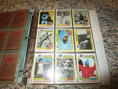 1983 History's Greatest Dell 'ol Impo Olimpiadi Los Angeles 99 Cartoline Set