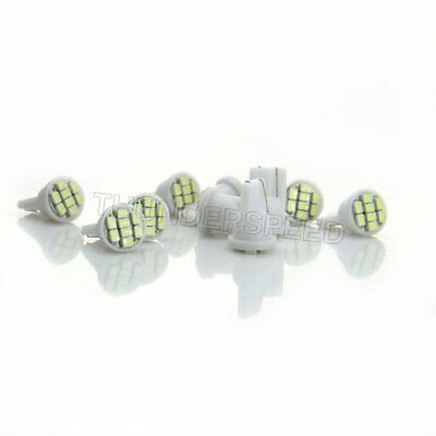 10pc Ultra White T10 1206 8-SMD LED Bulbs Car Dashboard Instrument Panel Lights