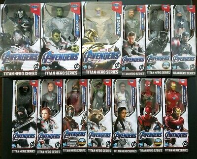 "2019 Marvel Avengers EndGame Titan Hero Series 12"" Action Figures Full Set of 13"