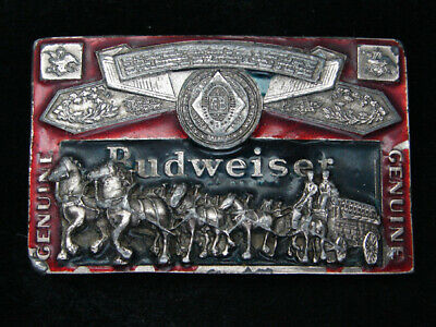 Rc03112 Vintage 1982 **Genuine Budweiser Lager Beer** Advertisement Belt Buckle