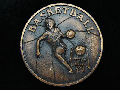 Pg29115 Vintage 1978 **Basketball** Sports Commemorative Brasstone Belt Buckle