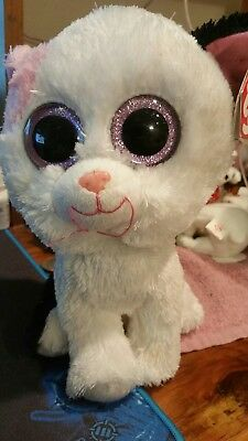 638bd0b6fc5 TY BEANIE BABY ~ MYSTIQUE the Circus PINK Tiger Cat~ Plush Stuffed ...