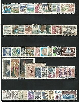 France: Lot of 45 different stamps mint NH, different thematic. FR172