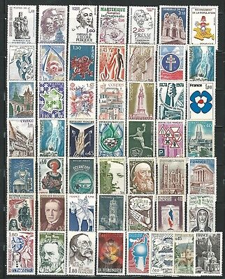France: 50 mint NH, stamps different, good value. EBFR009