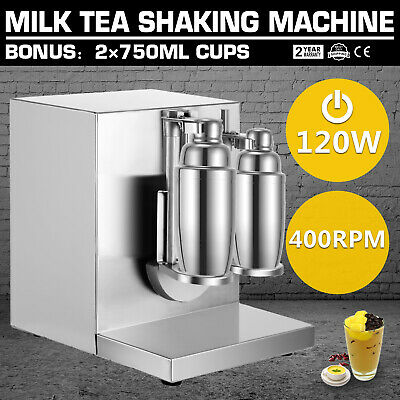 Auto Bubble Boba Stainless Steel Milk Tea Shaker Machine Double-Frame Shaking