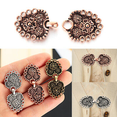 Retro Sewing New Cardigan Clip Shawl Brooch Sweater Blouse Pin Clip Clasps