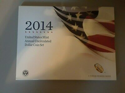 (E-2983) 2014 US Annual Uncirculated Dollar Set- INCLUDES SILVER AMERICAN EAGLE!