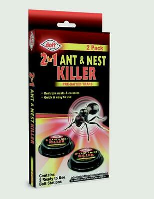 Doff Ant Bait Station Ant Killer Trap Stop Destroy Nest Home 2 Pack New