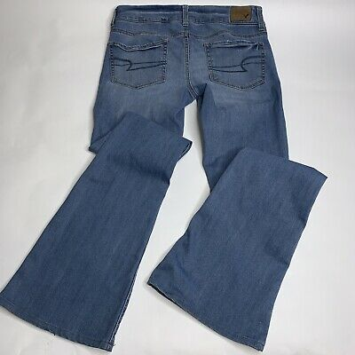 Jeans Clothing, Shoes & Accessories American Eagle Outfitters Womens 2 Jeans Artist Flare Stretch Blue Cotton Denim