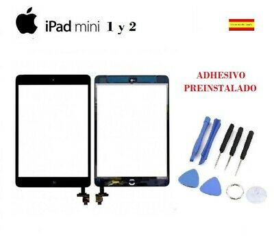 PANTALLA TACTIL IPAD MINI 1 2 A1432 A1454 A1455 negro negra CHIP IC boton home