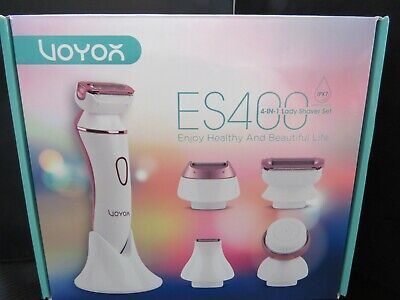 NEW VOYOR ES400 4-IN-1 Lady Shaver Set Cordless, Rechargeable & IPX7 Waterproof