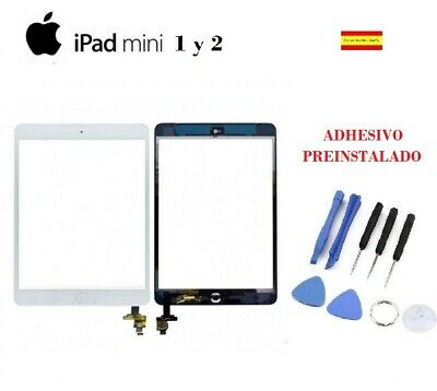 PANTALLA TACTIL IPAD MINI 1 2 A1432 A1454 A1455 blanco blanca CHIP IC + boton