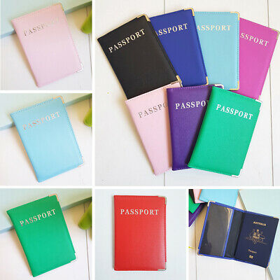 Travel Passport Cover Case Holder Wallet Organiser Protector RFID PU Leather Bag