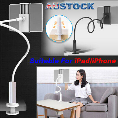 AU 360°Rotating Tablet Stand Holder Lazy Bed Desk Mount iPad Air iPhone Samsung